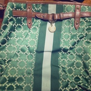 Gently Used Tommy Hilfiger Green and Taupe Purse